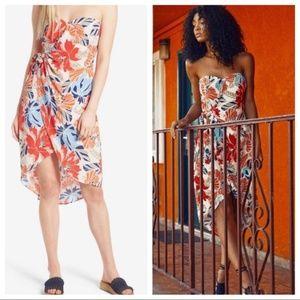 ASTR the Label Floral Strapless Dress